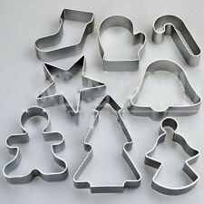 8PCS/Set Christmas Tree Star Pastry Cookie Cutter Biscuit Cake Decor Mould Tools