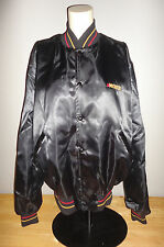 Vintage Official Anheuser-Busch Black Michelob Beer Black Satin Jacket - Adult L