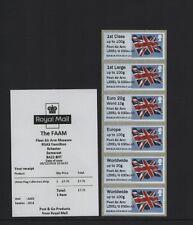 FAAM FLAG undated BDGB16 COLLECTORS STRIP OVERPRINT LZ551/G 03Dec45 POST & GO