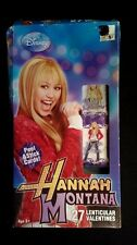 27 Hannah Montana Lenticular Paper Valentine Day Cards Box damage