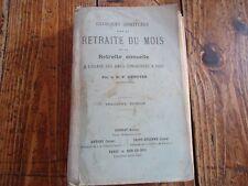 RELIGION - EXERCICES SPIRITUELS POUR LA RETRAITE DU MOIS - DUNOYER - 1903