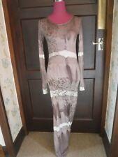 Amazing All Saints Broken Venom LS Maxi Dress Size 8 BNWOT