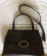 42f8d8f42190c Lulu Guinness Large Gertie Black Leather Shoulder Bag