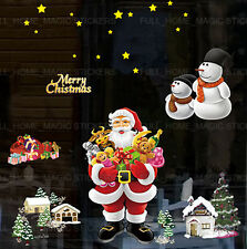 CHRISTMAS WALL DECORATION SANTA CLAUS PLAYROOM STICKER ART ROOM HOME DECOR DECAL