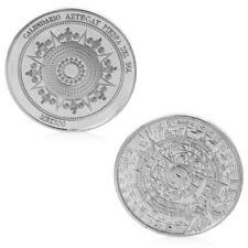 Silvery Mayan Calendar Mexico Souvenir Commemorative Coin Home Collection Token