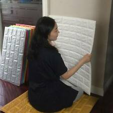 3D PE Foam DIY Brick Stone Embossed Wall Paper Wall Stickers Wall Decor 30*30cm