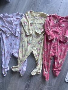 Baby Girls Next 3-6 Months Baby Grows Floral Set