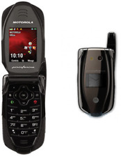BLACK MOTOROLA PININFARINA i877 iDEN TELUS MIKE CELL PHONE FLIP WALKIE TALKIE