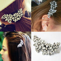 Women Bridal Wedding Party Flower Crystal Rhinestone Headband Hair Clip Comb Pin