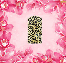 Leopard - 2 Wraps Nail Art Tattoo Sticker Decal Fingernägel Fuß-Nägel Aufkleber