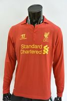 The Reds 2012-13 WARRIOR Liverpool FC Long Sleeve Home Shirt SIZE M (adults)