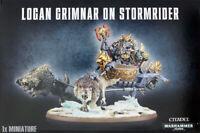 Logan Grimnar on Stormrider Space Wolves Space Marines Warhammer 40K NIB
