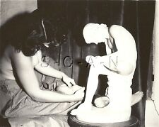 Original Vintage 40s-60s Artistic Nude RP- Statue- Woman- Life Replicating Art