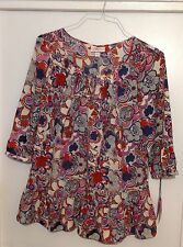 Liberty Print plaeted Frilly Top-Taille M