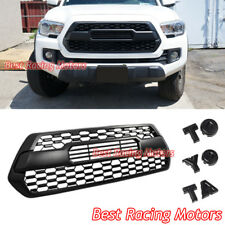 TP Style Front Grille (Matte Black) + DIY Letters Fits 16-18 Toyota Tacoma