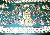 Wallpaper Border Victorian Rope Tassel Fringe Gold Purple Green Wall Eh00105 NIP