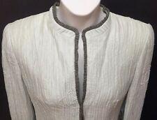 NEW GIORGIO ARMANI Cropped Jacket Bolero Embroidered Crinkle 48 / 14 $2995