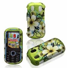 For Samsung Intensity 2 U460 Rubberized Design Hard Cover Case Hawaiian Flower