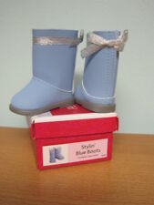 NEW American Girl Blue I Like Your Style Boots-Retired/NIB