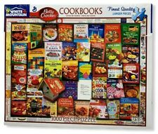 White Mountain Puzzle ~ BETTY CROCKER COOKBOOKS - 1000 Piece Puzzle - NEW