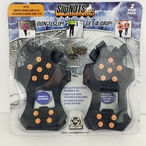 Yukon Charlie's Slip-Not's Traction Soles Two Pair Pack Compact Lightweight New