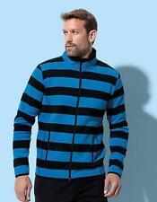 Herren Active Striped Fleece Jacket, Regular Fit | Stedman