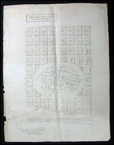 Antique 1894 Linn County Albany Oregon Cemetery Plan Plat Map Survey Hand Drawn