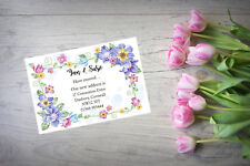 10 Personalised handmade Change of Address New Home House Moving Cards AC111