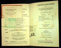 "Vintage Railroad Burlington Route ""Frost on Pumpkin"" Dining Car Dinner Menu"