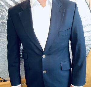 """CROMBIE Mens Navy Blue Blazer Jacket 40"""" chest Regular+ Crombie Blazer"""