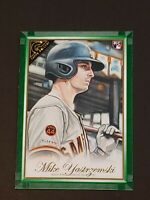 2019 Topps Gallery Green SP /99 !!! Mike Yastrzemski RC Rookie On Fire!!!!
