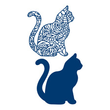 Tattered Lace Watercolour Cat Large Cutting Die 477489