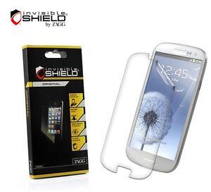 Samsung Galaxy S3 Screen Protector Clear HD ZAGG InvisibleShield Free Shipping