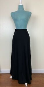 Peruvian Connection Black Pima Cotton Knit Skirt Size XL