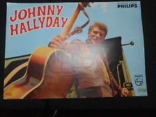 JOHNNY HALLYDAY 60s DISQUES PHILIPS RARE AFFICHE FRENCH POSTER ORIGINAL
