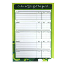 A5 Online Shopping Price Organiser Notepad - 100 Sheets Per Pad - 8.3 x 5.8