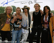 Aerosmith 8x10 RP Band Signed Steven Tyler Joe Perry