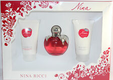 NINA BY NINA RICCI 3 PIECES SET FOR WOMEN WITH 1.7 OZ EDP SPRAY FOR WOMEN IN BOX