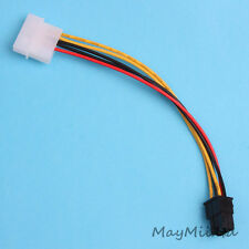 Video Card Power Adapter PCI-E 4 Pin Female D Type to 6 Pin Male Cable New G