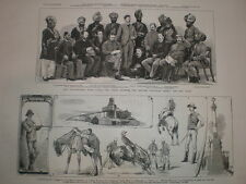British Embassy at kabul Afghanistan Lepel Griffin and staff 1880 old print