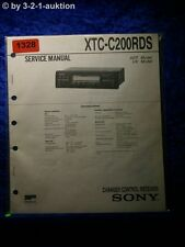 Sony Service Manual XTC C200RDS Changer Control Receiver  (#1328)