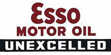 Esso Motor Oil Unexcelled Gas Pump High Quality Metal Fridge Magnet 3x6 9782