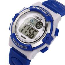 Boys Child Silicone Band Stopwatch Digital Alarm Silicone Band Sport Wrist Watch