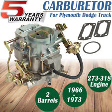 2BBL Carb Carburetor MOPAR For Dodge Dart Charger Plymouth C2 BBD 273 318 Engine