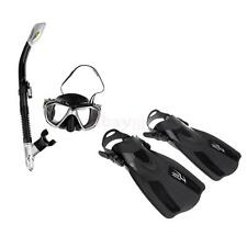 Dive Mask + Snorkel + Fins/Flippers Snorkelling Scuba Diving Full Combo Set