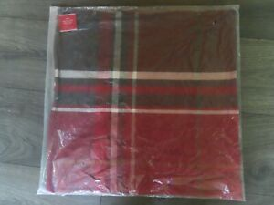 """Pottery Barn MC KINLEY RED PLAID TARTAN PILLOW COVER~24"""" SQUARE-NEW W/ TAGS IN P"""