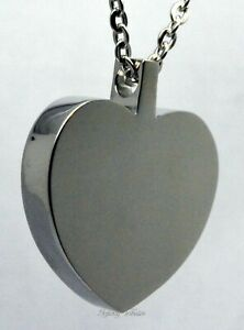 Engraved Cremation Ashes Necklace Urn Pendant Engraved Personalised Large Heart