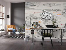Giant Paper Wallpaper 368x254cm Star Wars Kids Boys Teenagers Bedroom Wall Mural
