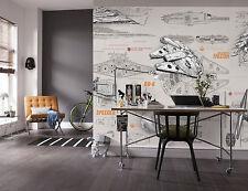 Giant paper wallpaper 368x254cm Star Wars starships teenagers bedroom wall mural