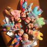5pcs/lot Cute Mini Mermaid Snow White Princess Belle Baby Dolls Toy Kids Gift